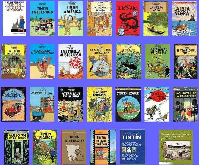 las 28 historias de tintin