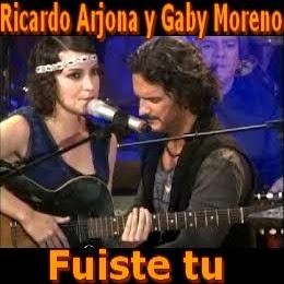 037 - fuiste-tu - Gaby Moreno y Ricardo Arjona